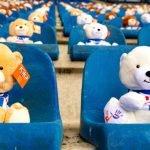 dutch soccer stadium teddy bears children cancer charity