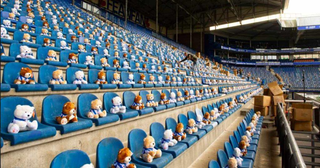 dutch soccer stadium teddy bears children cancer charity 3