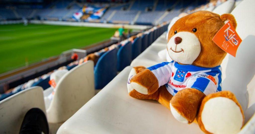dutch soccer stadium teddy bears children cancer charity 2