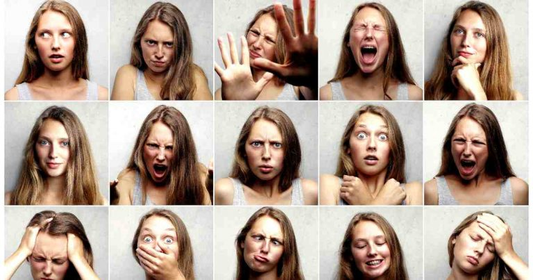 big five personality traits- openness and more - girl with many expressions
