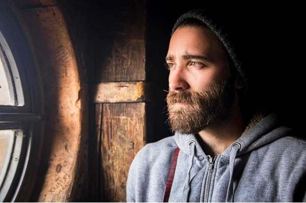 Sad loneliness quotes - sad man with beard