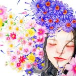 What does it mean when you dream about someone - flowers watercolor